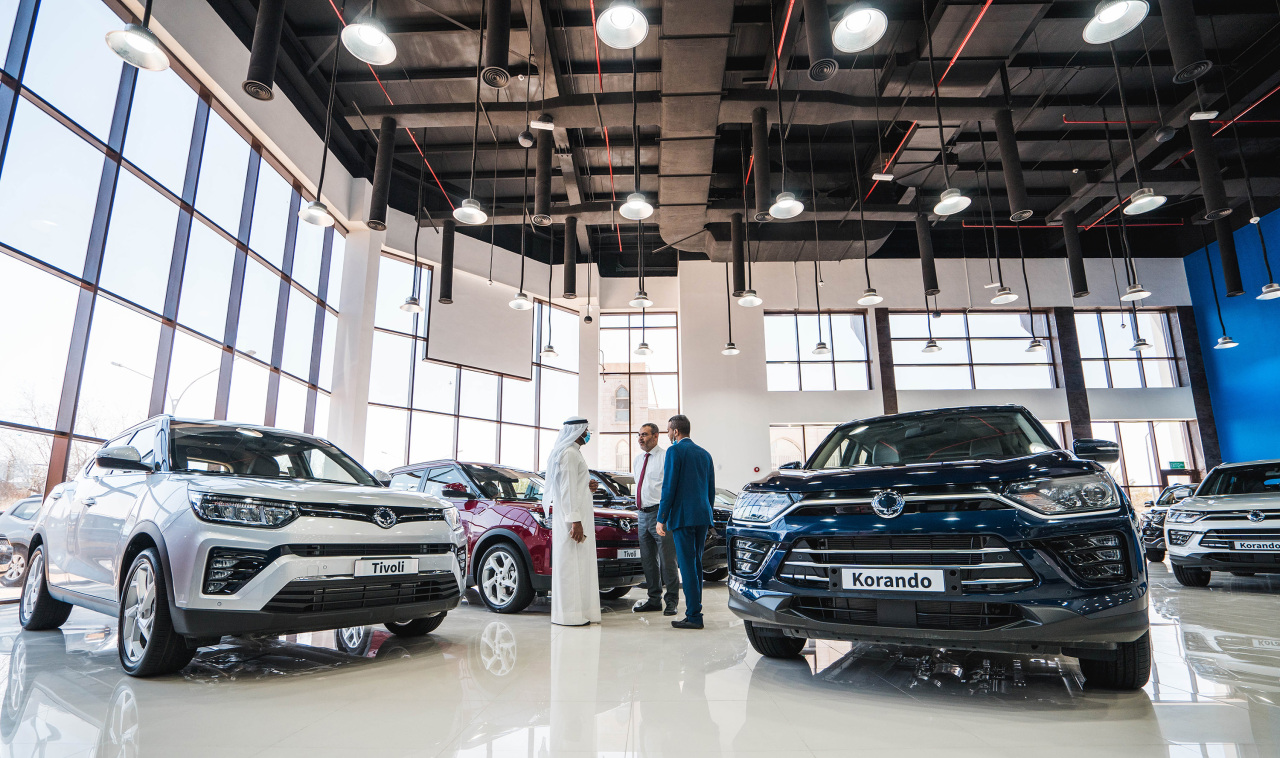 A view of SsangYong Motor's showroom in Kuwait (SsangYong Motor)