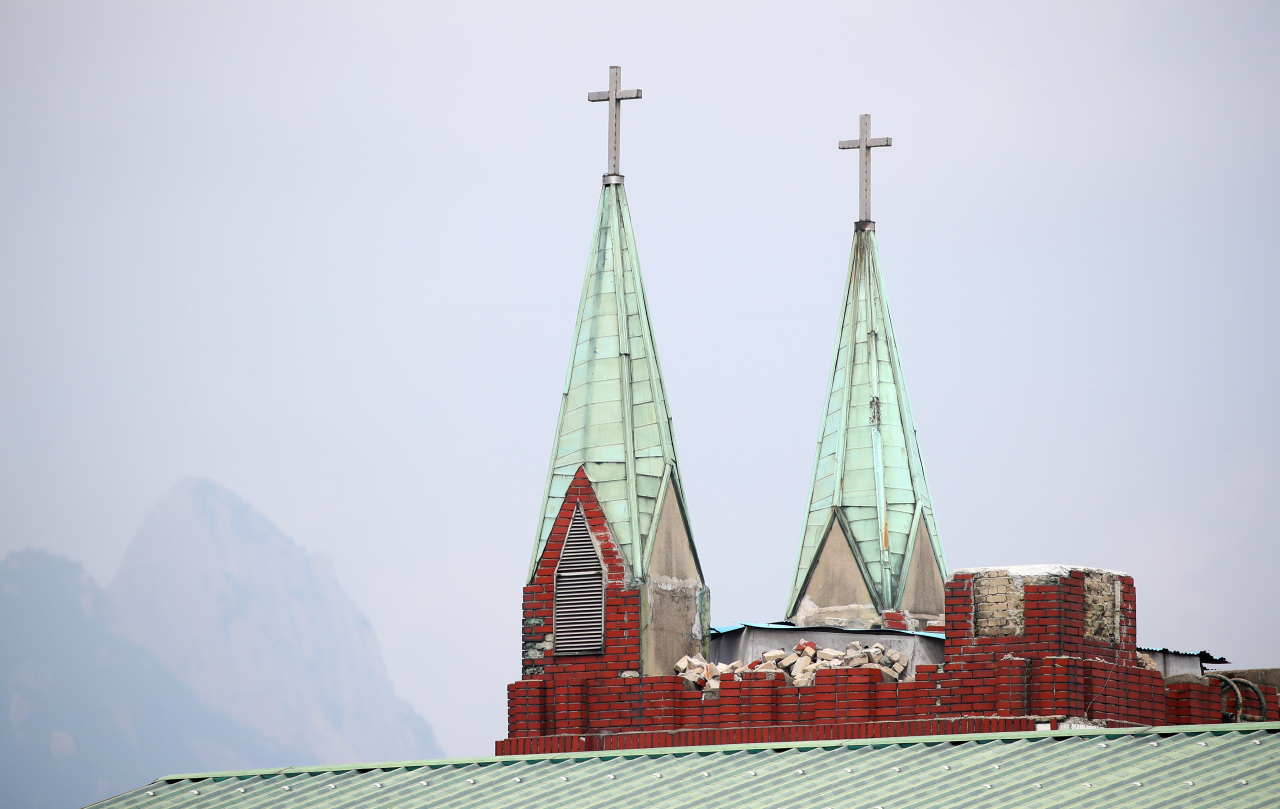 Sarang Jeil Church in Seongbuk, a district in northern Seoul, is at the center of the coronavirus resurgence in Korea. (Yonhap)