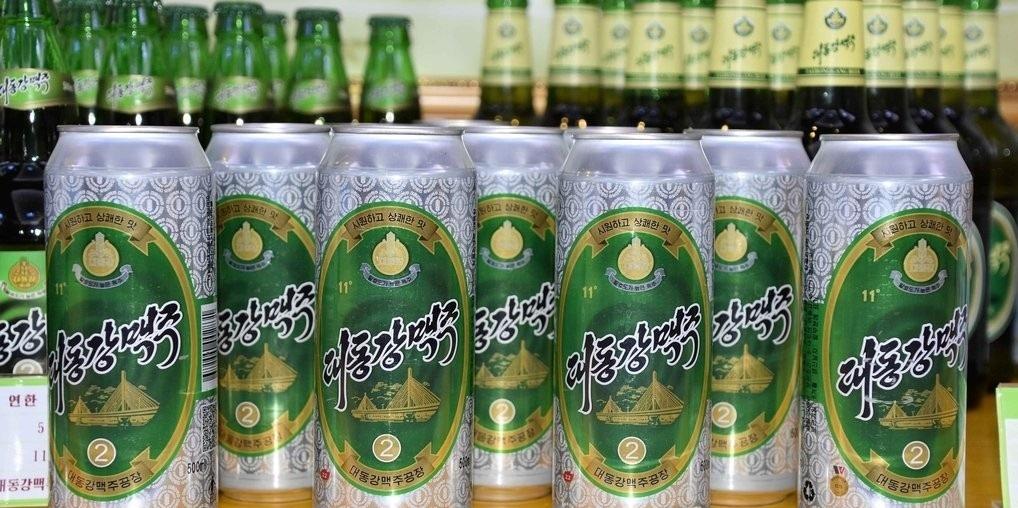 North Korea's Taedonggang beer, named for a river that runs through Pyongyang (KCNA-Yonhap)