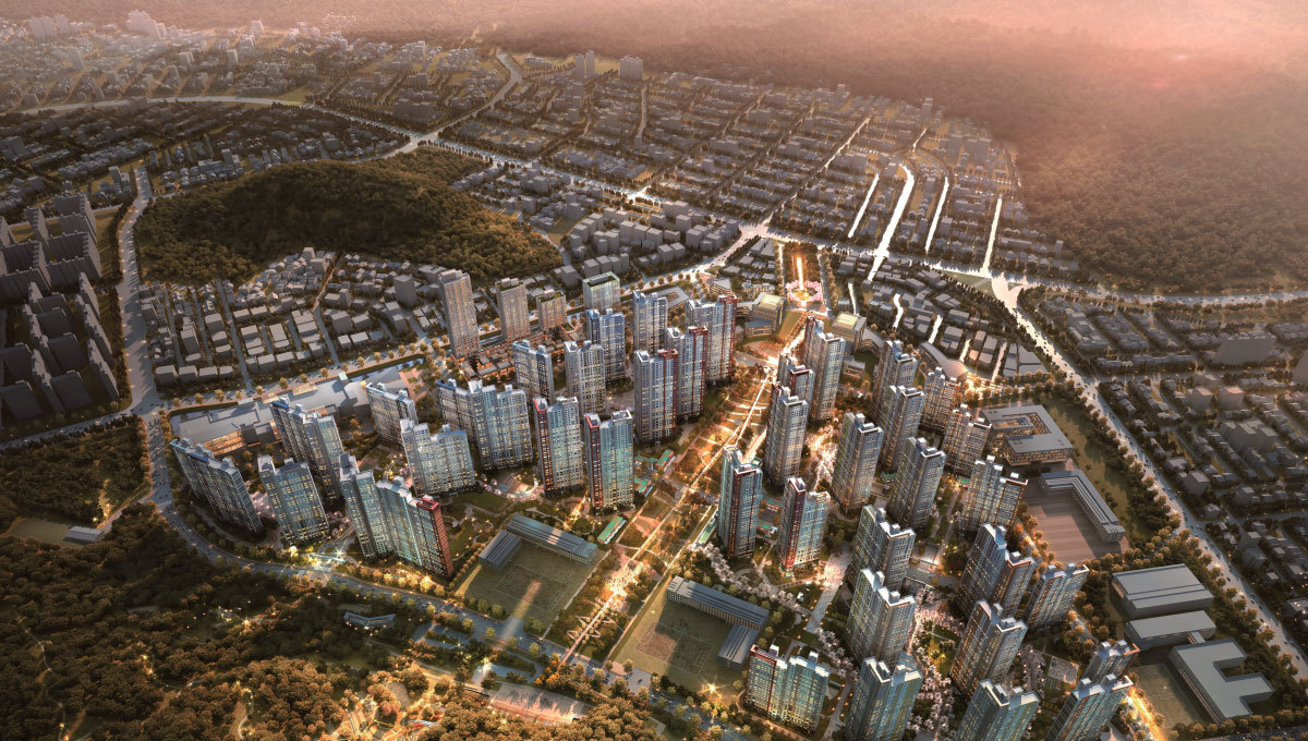 A promotional image of Taeyoung E&C's construction project in Changwon, South Gyeongsang Province. (Taeyoung E&C)