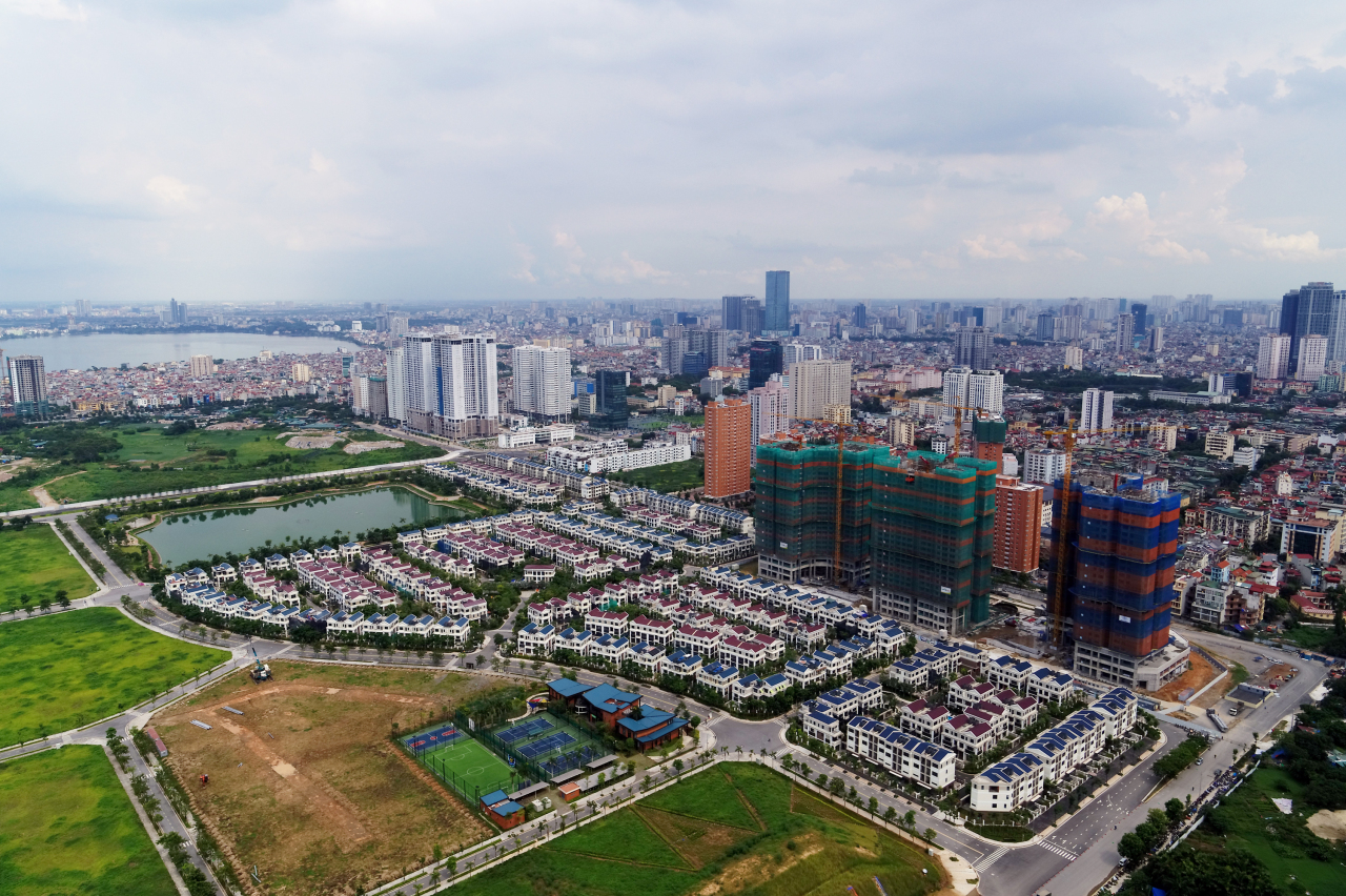 Starlake City being built by Daewoo E&C in Hanoi, Vietnam (Daewoo E&C)