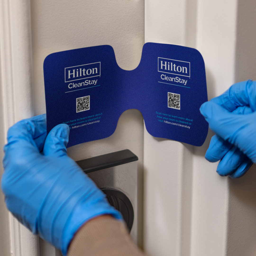 The Hilton CleanStay Room Seal ensures that no one enters the hotel's rooms once they have been sanitized. (Millennium Hilton Seoul)