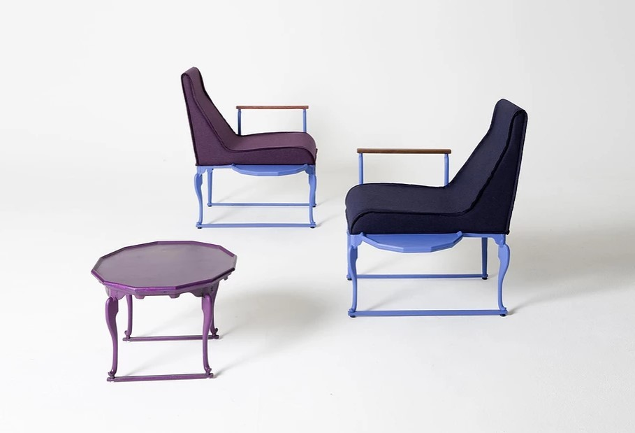Bansang and lounge chairs by furniture designer Ha Ji-hoon (Courtesy of the artist)
