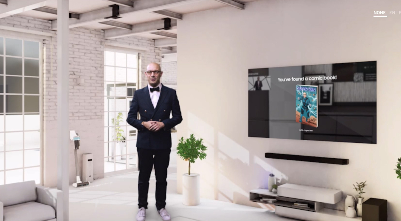 Benjamin Braun, vice president for marketing at Samsung Europe, speaks during a virtual press conference Wednesday. (Samsung Electronics)