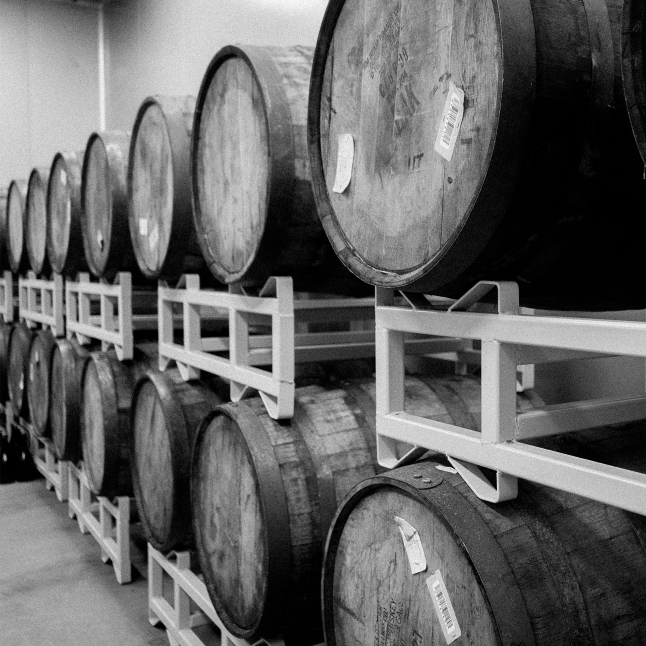 Original Beer Company's Moonlight Scottish ale and Bullrock Imperial stout are aged for approximately three months in oak barrels previously used for bourbon whiskey. (OBC)