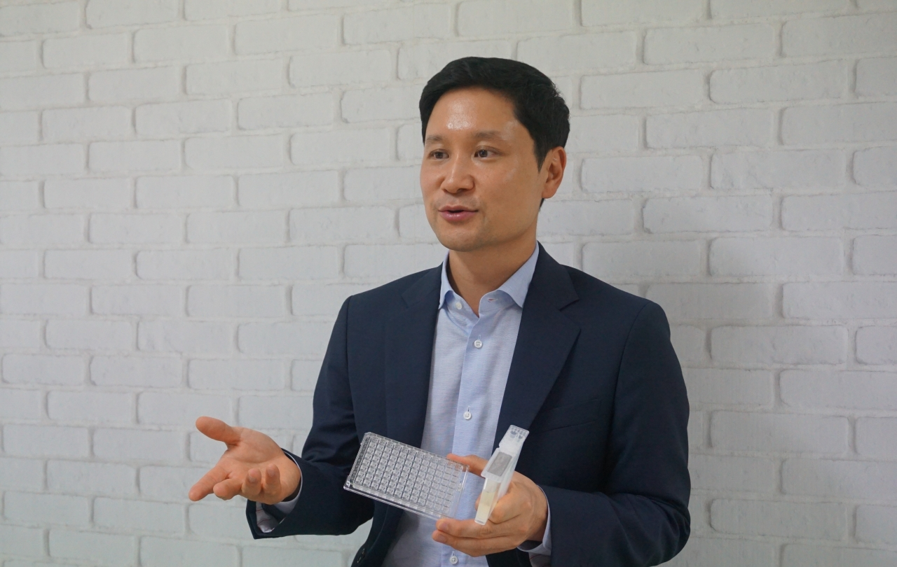 QuantaMatrix CEO Kwon Sung-hoon speaks during an interview with The Korea Herald in Yeouido, western Seoul, on Aug. 18. (QuantaMatrix)