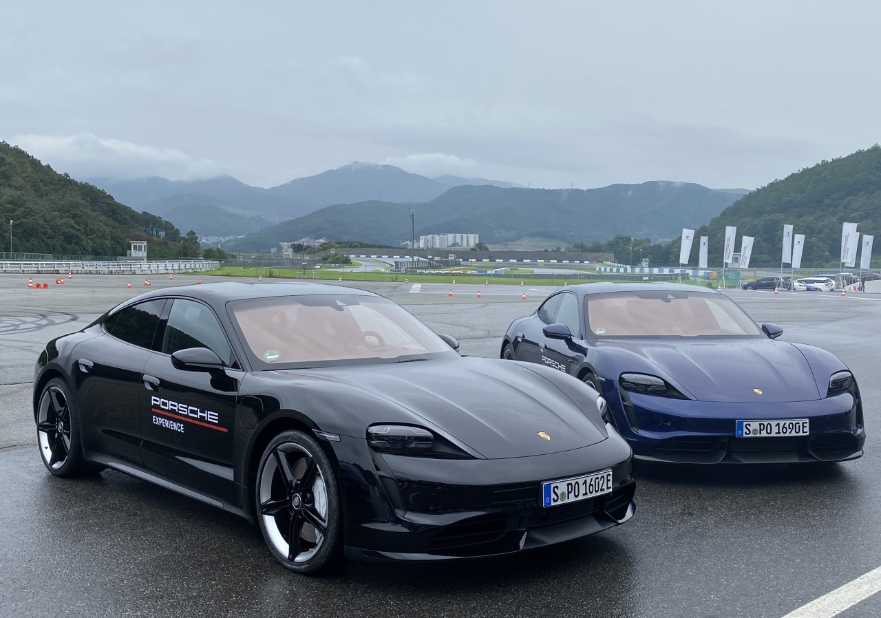 The Porsche Taycan Turbo S (Jo He-rim/The Korea Herald)