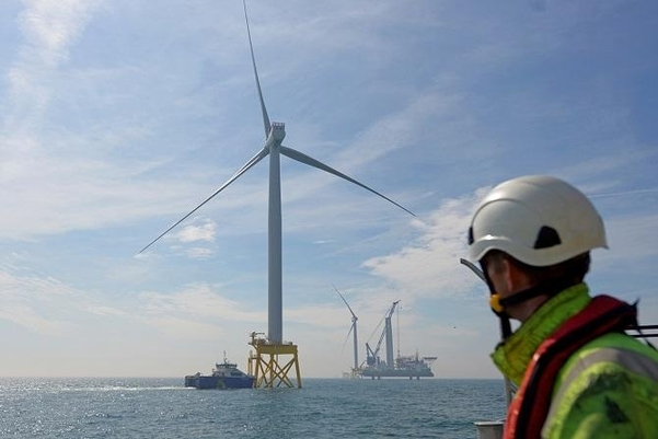An offshore wind farm developed and operated by GIG in England (GIG)