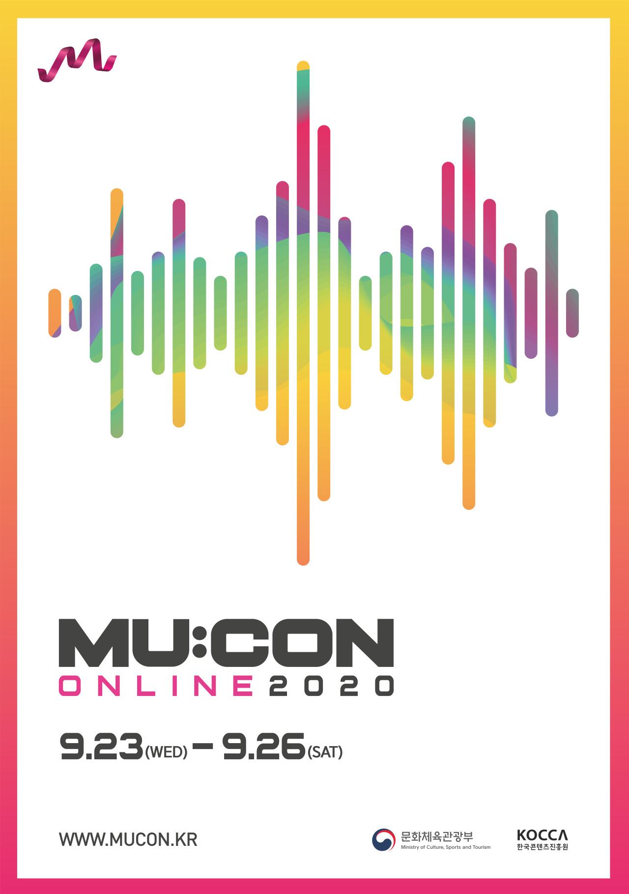 Poster for 2020 MU:CON (Korea Creative Content Agency)