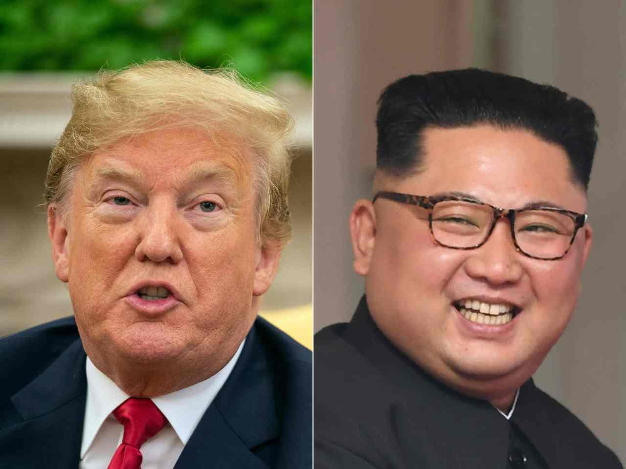 President Donald Trump (L) and North Korean leader Kim Jong-un (R) (AFP-Yonhap)