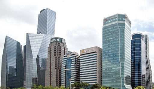 A view of Yeouido, Seoul, where the headquarters of local major brokerage houses are clustered (Yonhap)