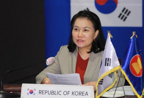 Trade Minister Yoo Myung-hee (Ministry of Trade, Industry and Energy)