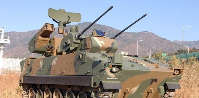 The Hybrid Biho anti-air defense system, developed by Hanwha Defense (Hanwha Defense)