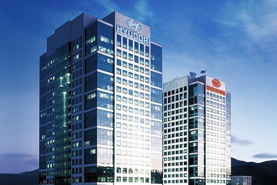 The corporate headquarters of Hyundai Motor Co. and Kia Motors Corp. in Yangjae, southern Seoul (Yonhap)