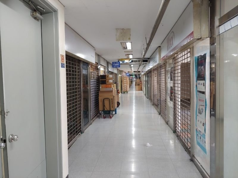 Most retailers in Yongsan, central Seoul, are closed on Sept. 18 after Coupang started to offer GeForce RTX 3080 graphics cards at much lower prices. (Captured from online community)