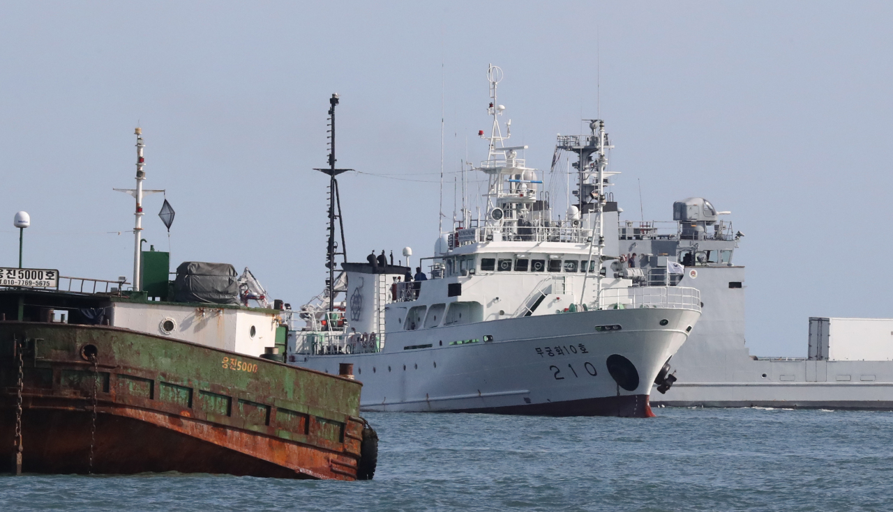 A South Korean official, who was shot dead by North Korean troops, was on board the patrol boat Mugunghwa 10 before gone missing earlier this week. (Yonhap)