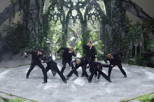 BTS performing