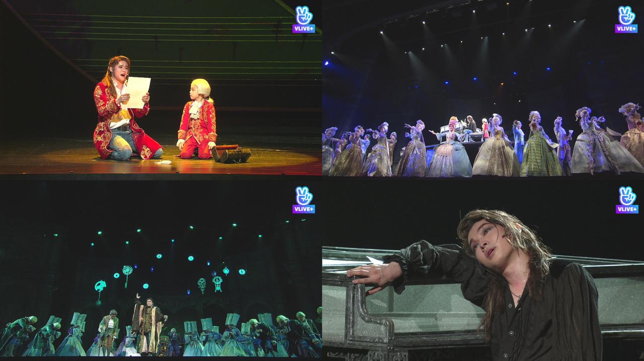 "Screenshots of the musical ""Mozart!"" (EMK Musical Company)"