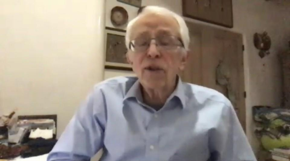 In the captured image, US nuclear expert Siegfried Hecker is seen speaking in a virtual seminar jointly hosted by the Seoul-based East Asia Foundation and Asia-Pacific Leadership Network for Nuclear Non-proliferation and Disarmament on Oct. 6, 2020. (Yonhap)