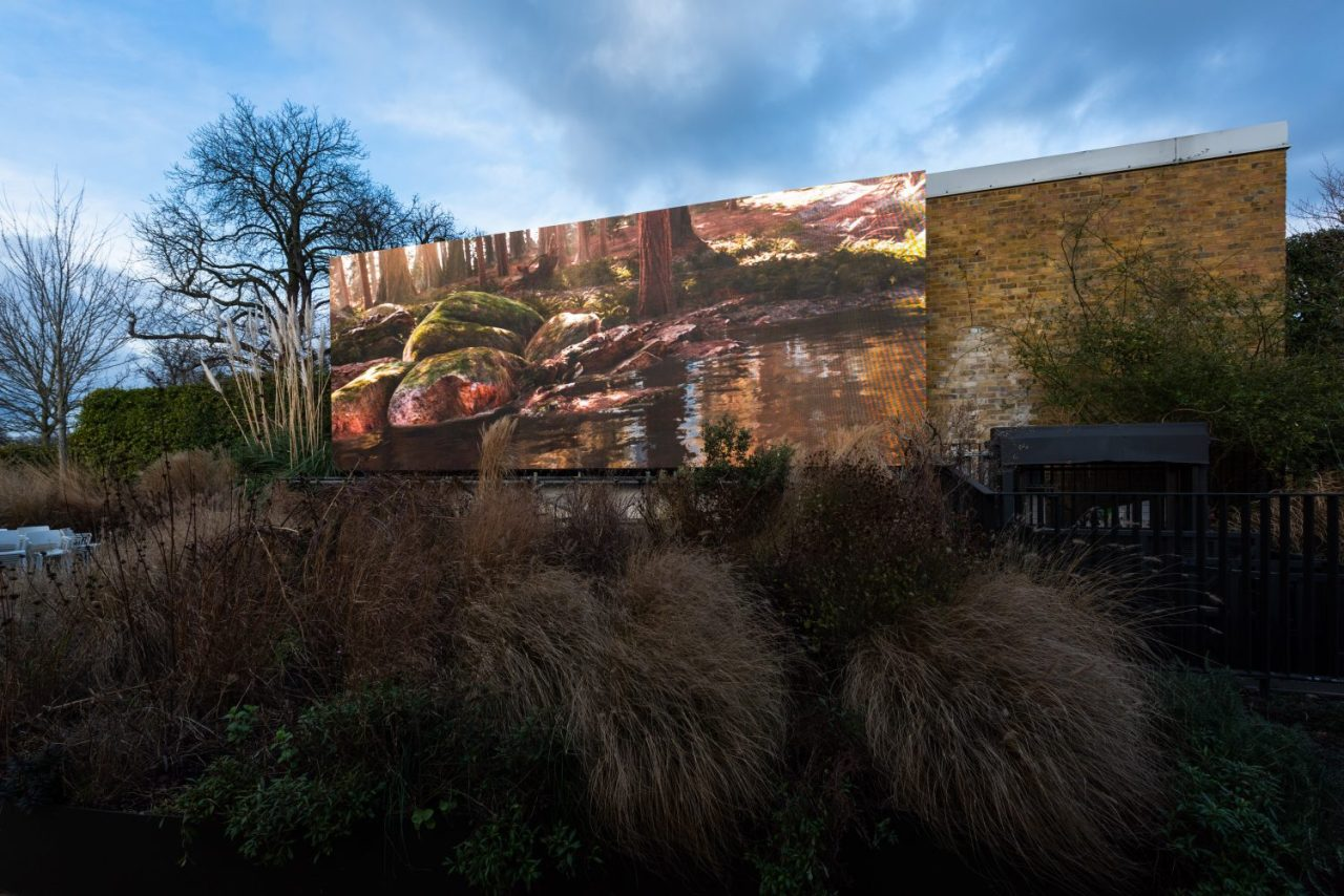Jakob Kudsk Steensen, Catharsis 2019-2020 Supported by CONNECT, BTS Outdoor installation at the Serpentine Galleries (Hugo Glendinning)