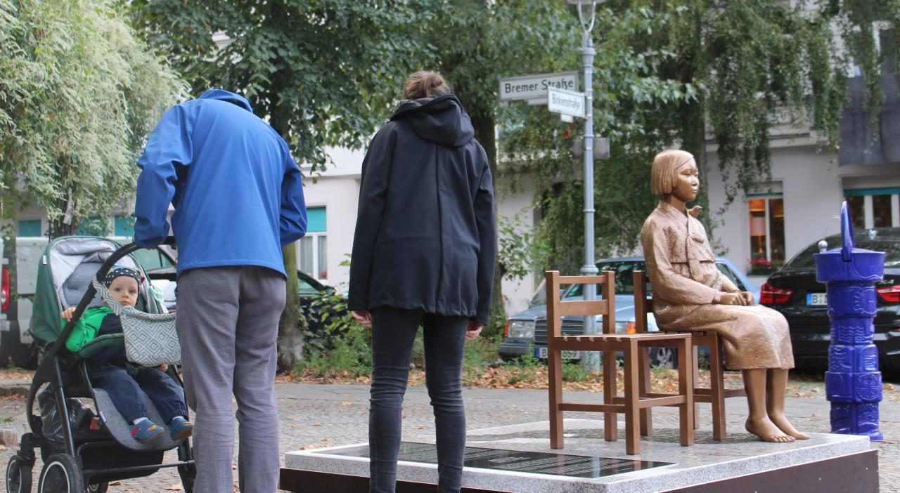 The comfort woman statue in Berlin (Yonhap)