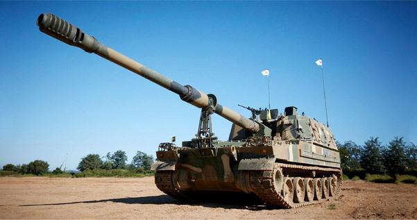 Hanwha Defense's K9 self-propelled howitzers