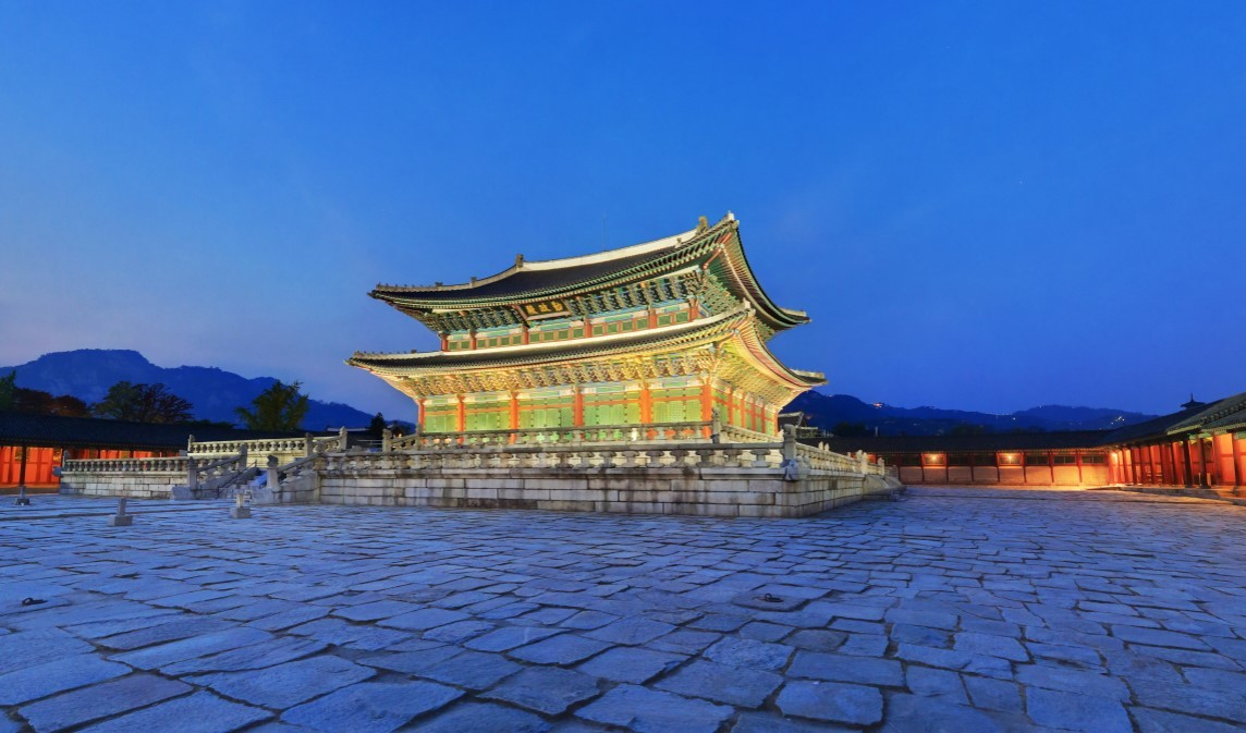 Geunjeongjeon Hall, the main hall of Gyeongbokgung Palace in central Seoul (Cultural Heritage Administration)