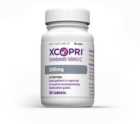 Cenobamate, whose product name is Xcopri in the US (SK Biopharmaceuticals)