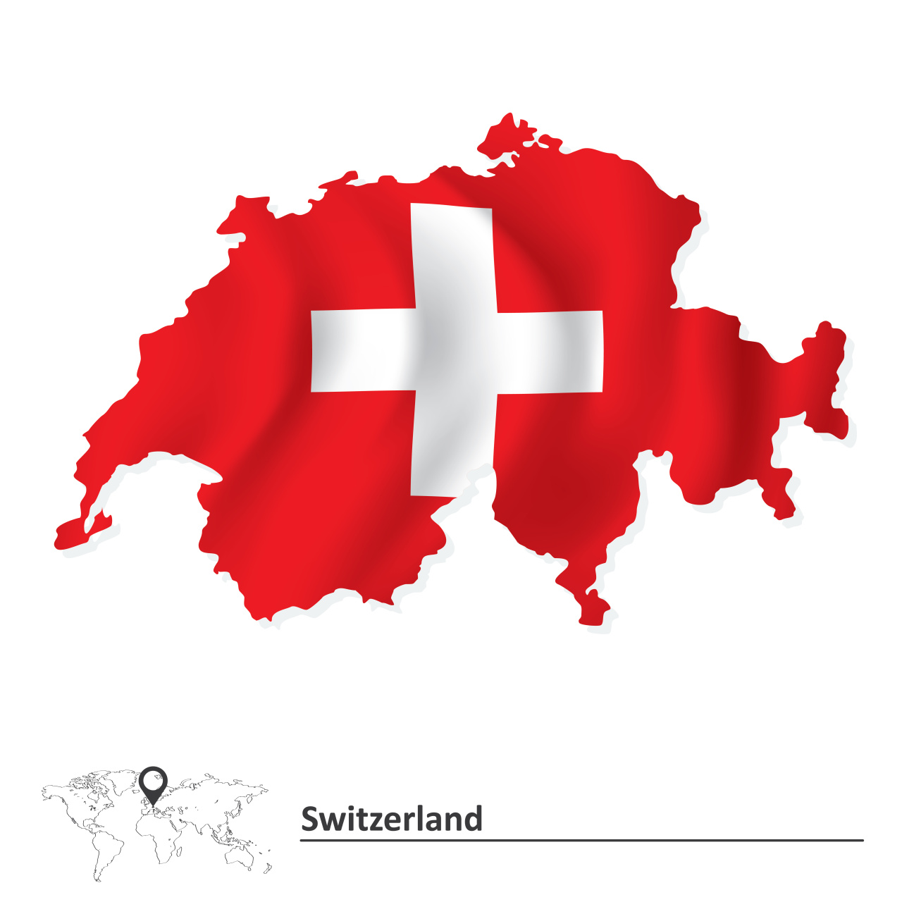 The flag of Switzerland (123rf)