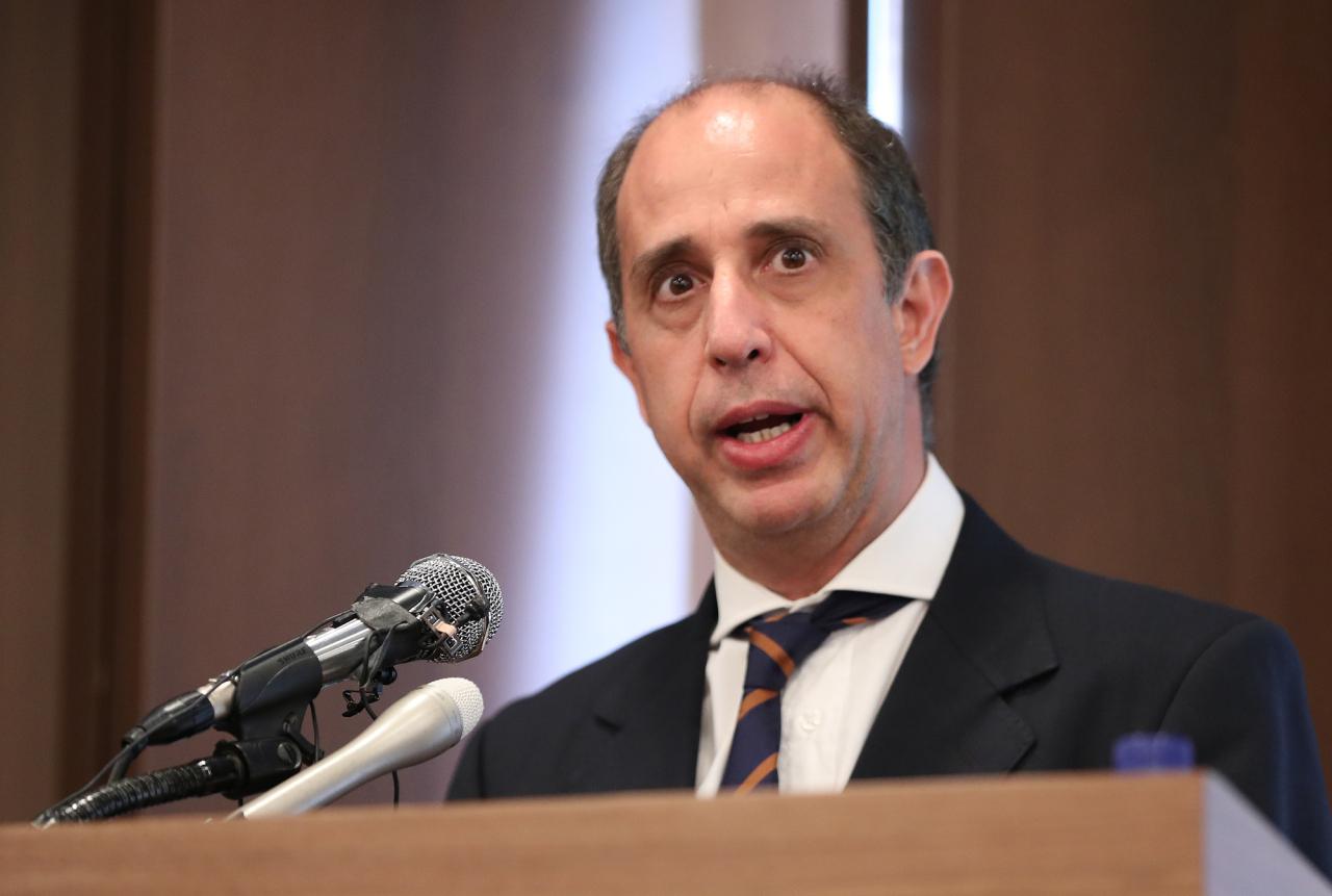 Tomas Ojea Quintana, the UN special rapporteur on North Korean human rights (Yonhap)