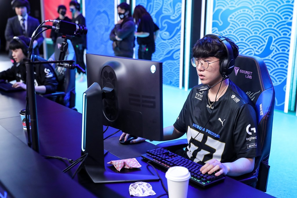 "Gen.G Esports' ""Ruler"" plays in the quarterfinals against G2 Esports on Sunday. (Riot Games)"