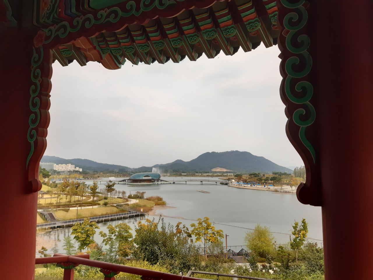 A view shows Sejong Lake Park near the government complex where 12 ministries are headquartered, earlier this month. (The Korea Herald)
