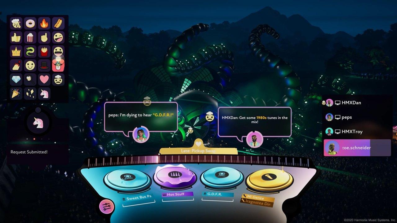 Gameplay image of NCSoft's DJ rhythm game set for release on Nov. 10 (NCSoft)