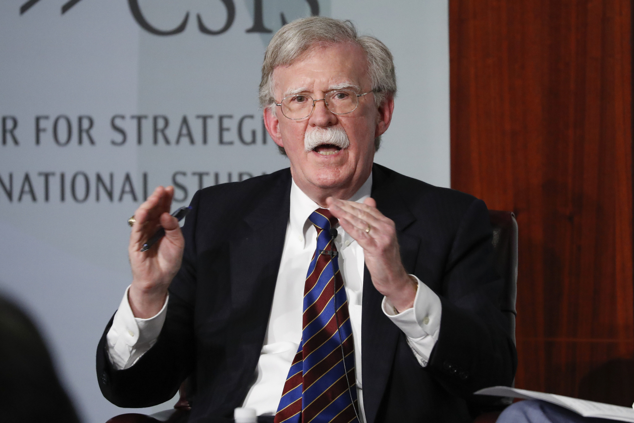 Former national security adviser John Bolton. (AP-Yonhap)