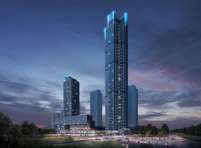 Artist's image of Incheon Global City's envisioned apartment complex (Incheon Global City)