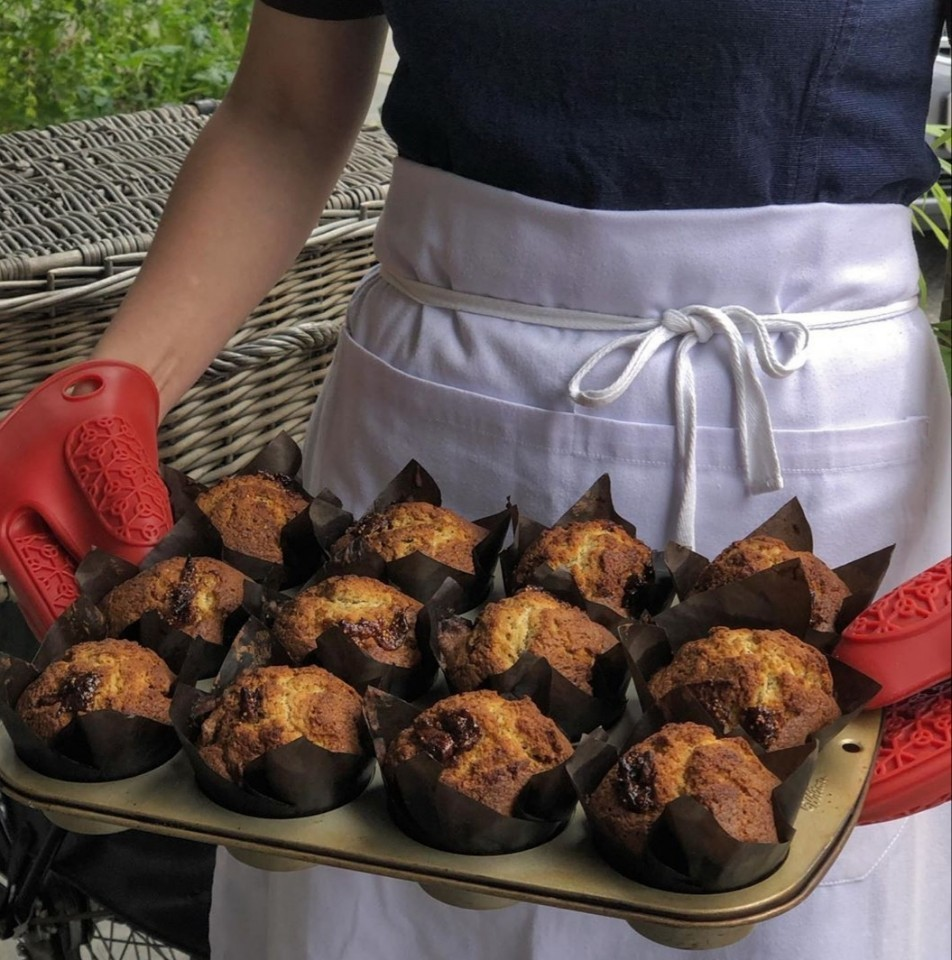 Mia Nonna Earl Grey Fig Muffins: Earl Grey and fig muffins sport a soft, buttery, tea-infused crumb and nubs of sweet, house-dried figs. (Photo credit: Mia Nonna)