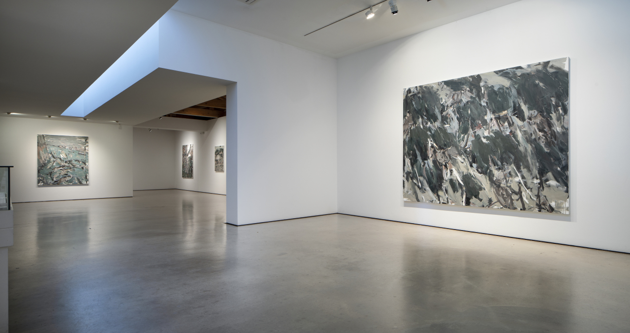 The installation view of