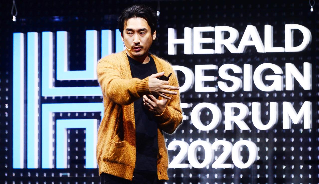 Dophiners Films CEO Shin Woo-seok (Park Hae-mook/The Korea Herald)