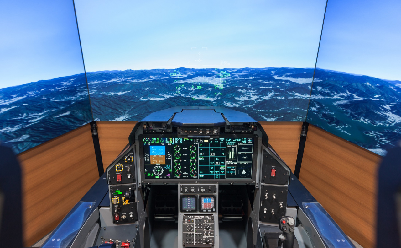 KF-X fighter jet simulator. (Korea Aerospace Industries)