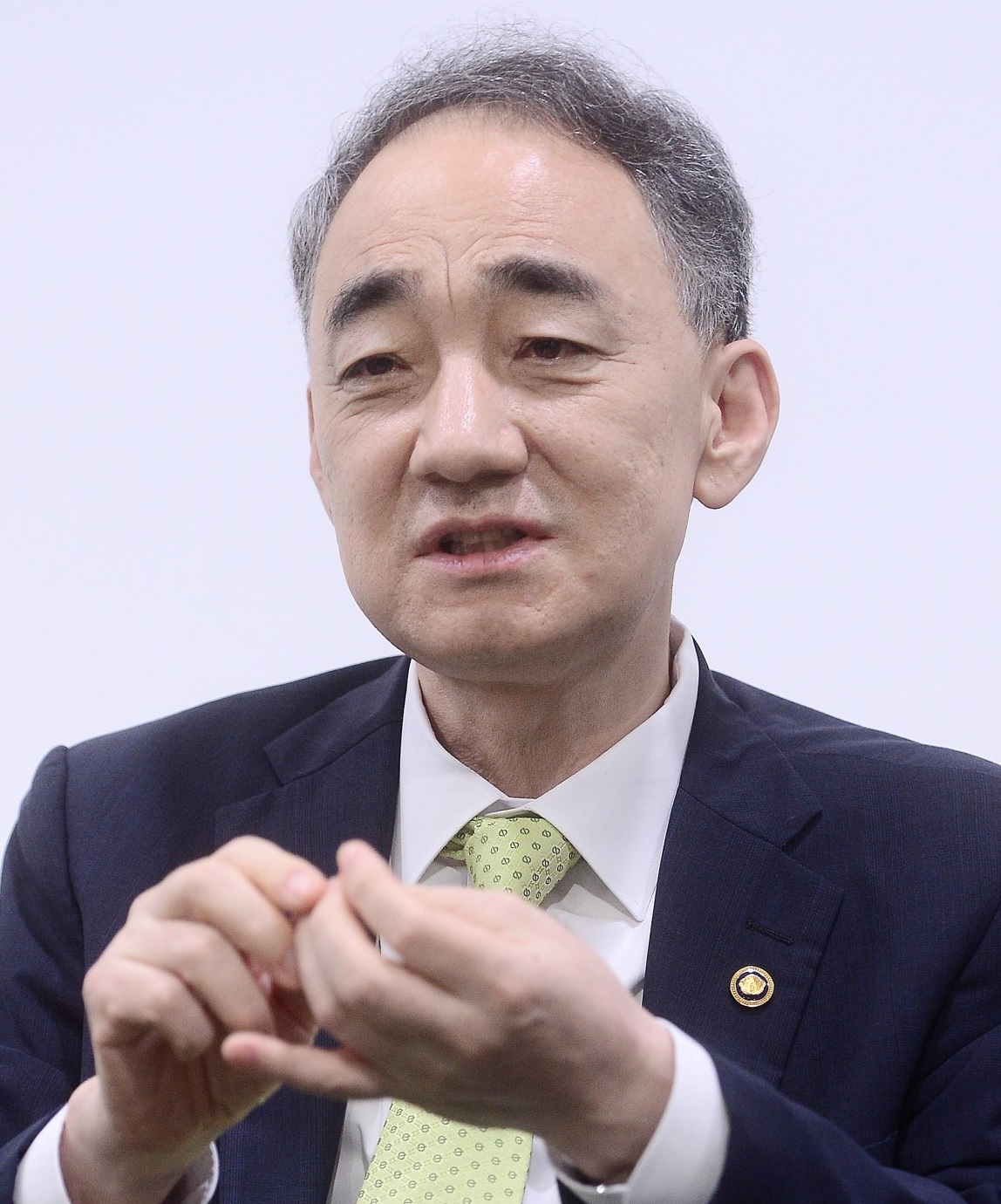 Wang Jung-hong, chief of the Defense Acquisition Program Administration, speaks in an interview with The Korea Herald at his office in Gwacheon, July 23, 2020. (By Lee Sang-sub/The Korea Herald)