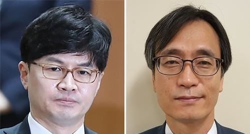 The file photos shows Han Dong-hoon(left) and Jeong Jin-woong. (Yonhap)