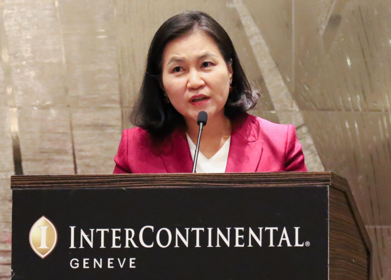 South Korean Trade Minister Yoo Myung-hee (Yonhap)