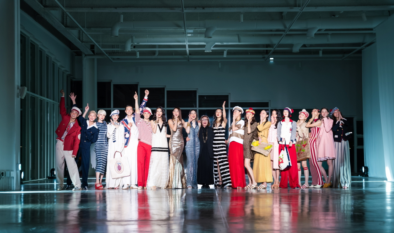 Miss Gee Collection is shown on live-streamed runway on Oct. 20 at the 2021 S/S Seoul Fashion Week(Seoul Design Foundation)