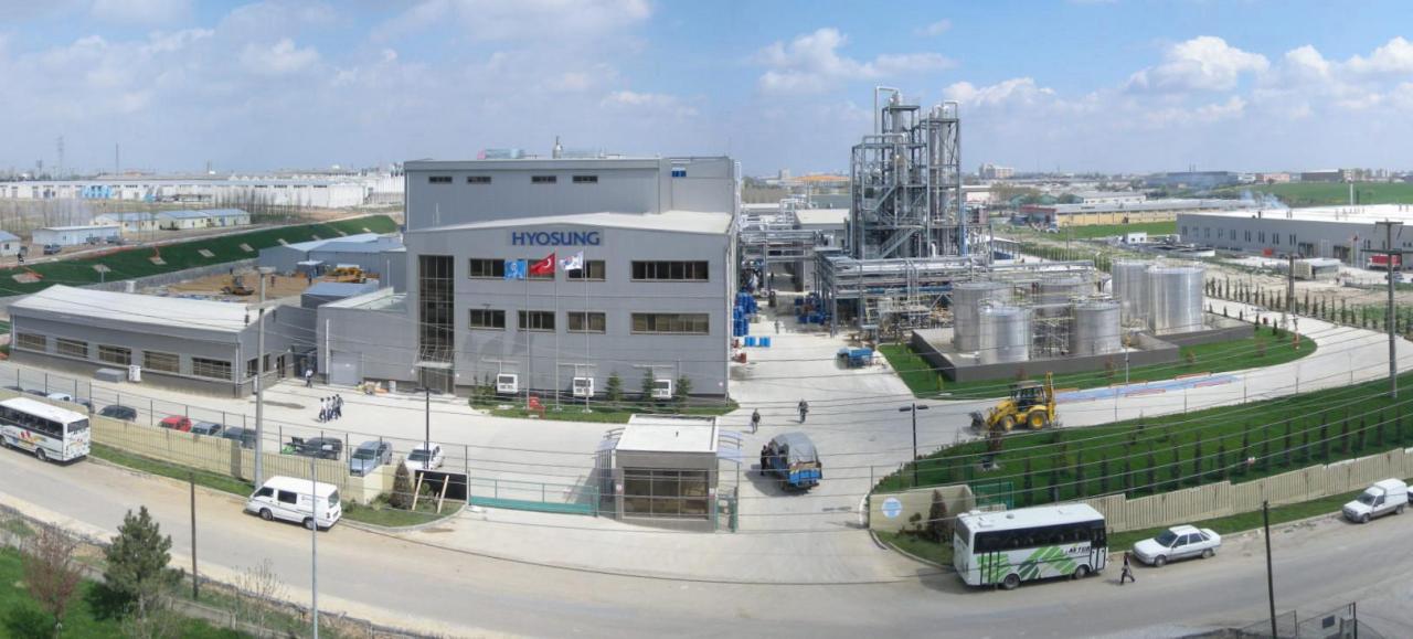 Hyosung T&C's spandex plant in Turkey (Hyosung T&C)
