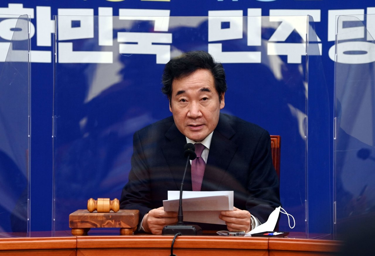 Lee Nak-yon, chairman of the ruling Democratic Party (Yonhap)
