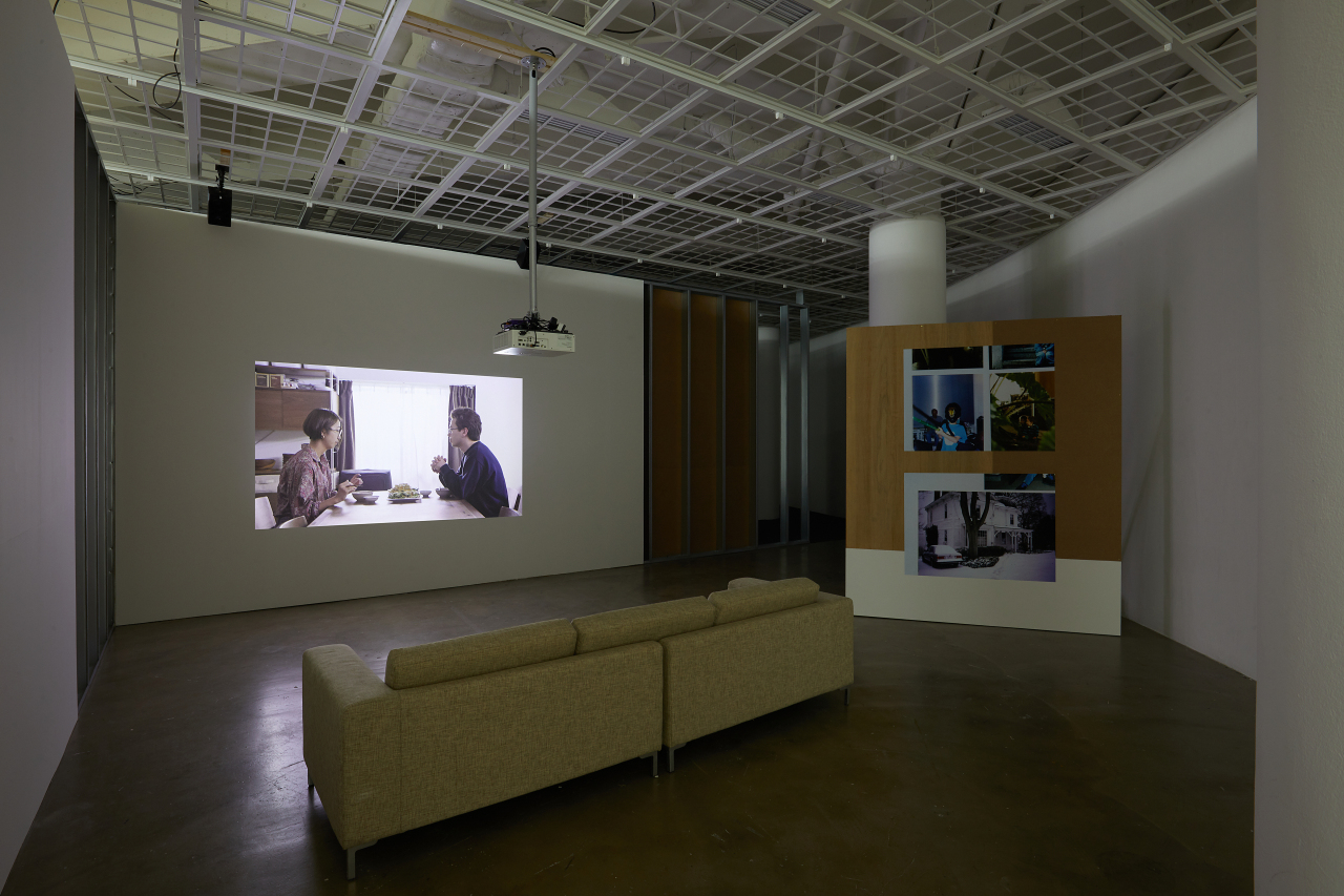 """Installation view of """"Vulnerable Histories (A Road Movie)"""" by Koki Tanaka (Art Sonje Center)"""