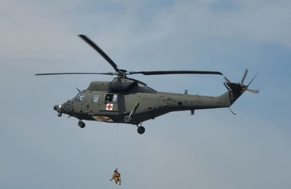 Surion-based medical evacuation helicopter delivered to the Army. (Defense Acquisition Program Administration)