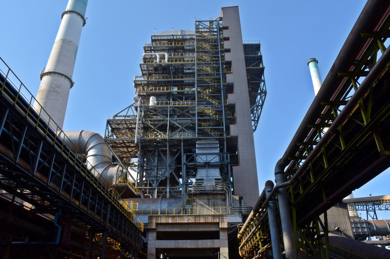 Posco's selective catalytic reduction facility constructed in Pohang steel mill's sinter plant (Posco)