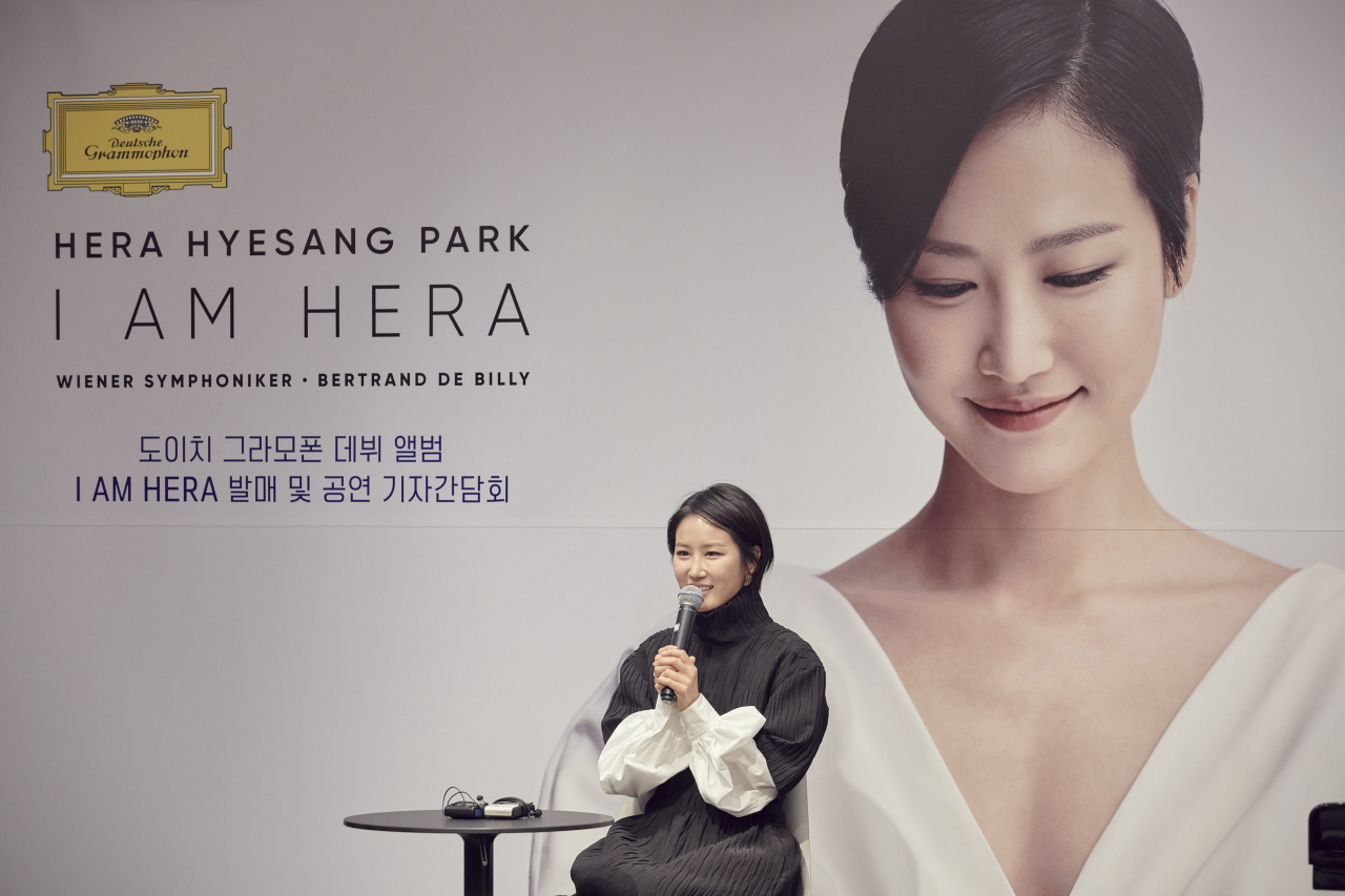 Soprano Park Hye-sang at a press event held Tuesday at culture complex Ode Port in southern Seoul (Credia)