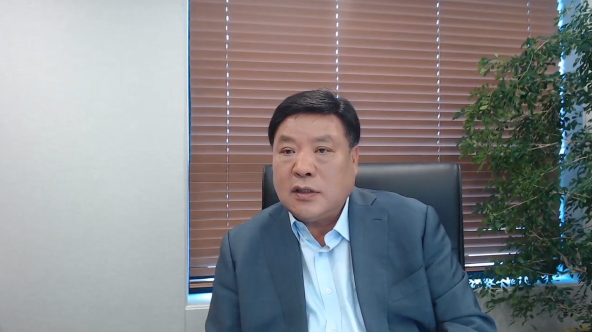Stock photo of Celltrion Chairman Seo Jung-jin screencaptured from an online press event held in July 2020. (The Korea Herald)